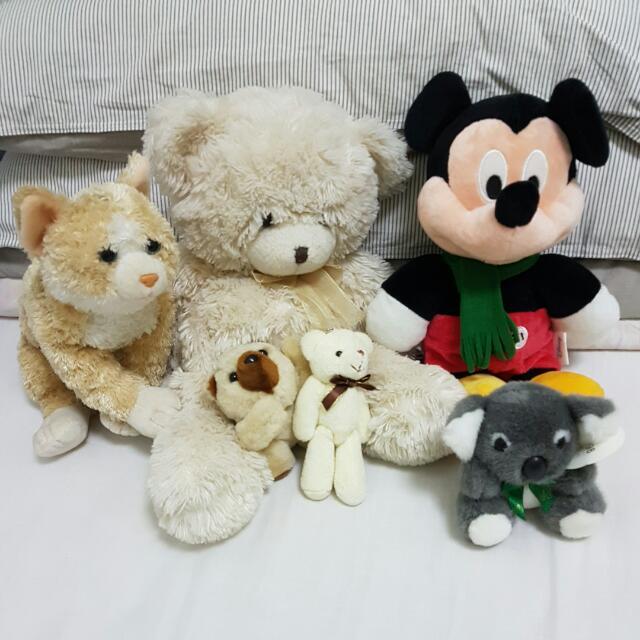 Small Medium Plushie Soft Toy Teddy Bear Cat Mickley Mouse Koala Gift.