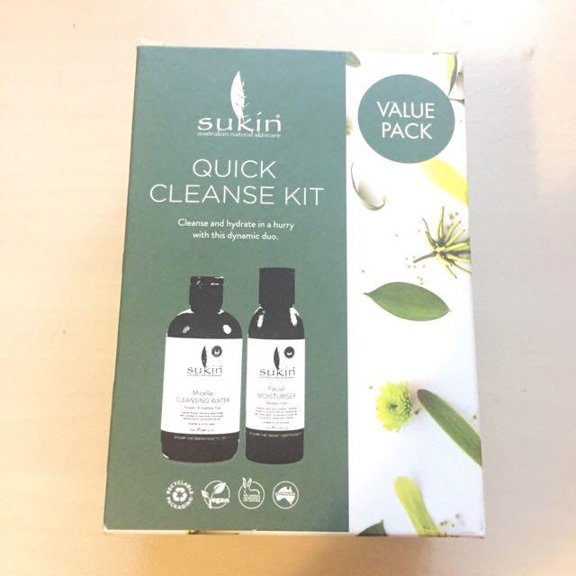 Sukin Quick Cleanse Set