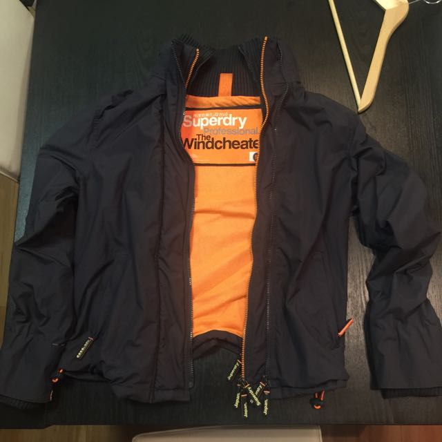 Superdry Windcheater Jacket Charcoal Grey