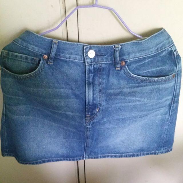 Uniqlo Denim Mini Skirt