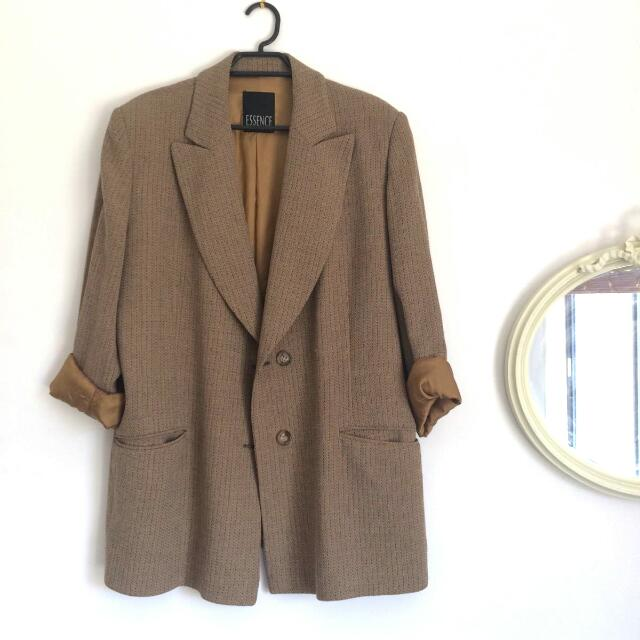 Vintage Boyfriend Suit Jacket
