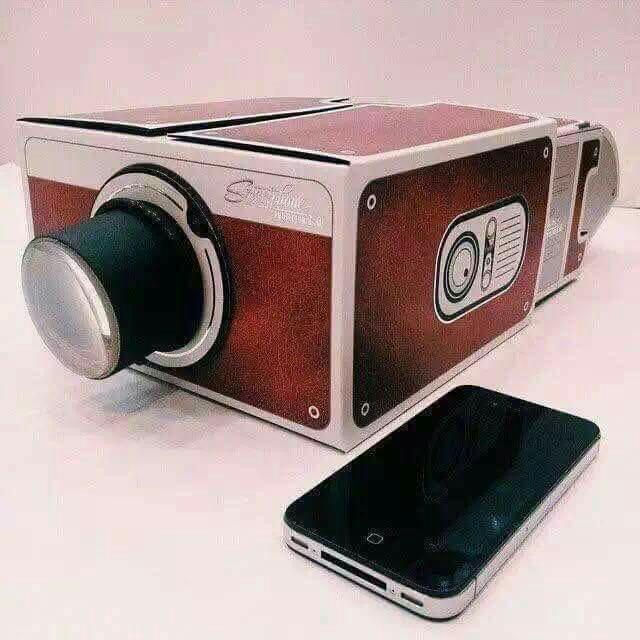 Vintage Camera Cellphone Projector
