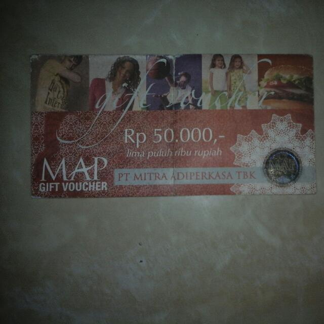 voucher 50.000 PT MAP = Rp. 20.000 (free ongkir jabodetabek)