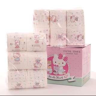 Hello Kitty衛生紙禮盒組現貨12卷一箱