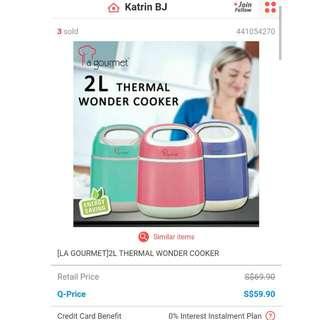 LA GOURMET 2L THERMAL WONDER COOKER