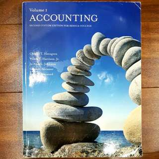 VOL1: Accounting 2nd Custom Ed For SENECA College