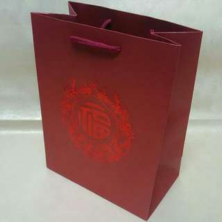 (M) Paper Carrier Bag, Rope Handled ↪ Prosperity 福  💱 $15.00 Each Packet - 10 Pieces