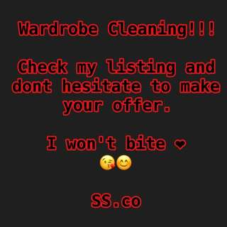 WARDROBE CLEANING!!!