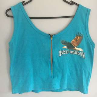 Vintage Harley Davidson Crop Tshirt