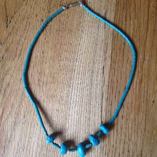 Turquoise/ Blue Rock Necklace