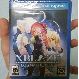 PS Vita Brand New Sealed Xblaze Lost Memories