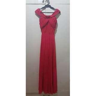 Red  Floorlength Dress