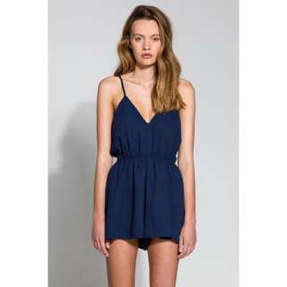 The Fifth Label Dreamshaker Navy Playsuit XS
