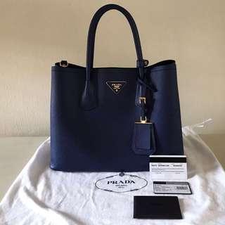 Prada Cuir Saffiano Double Bag