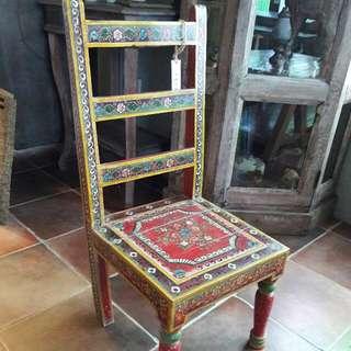 紅花梨木彩繪椅