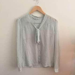 Bow Knot Long Sleeve Blouse