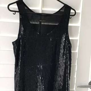 Beautiful Carla Zampatti sequin evening top size 6.