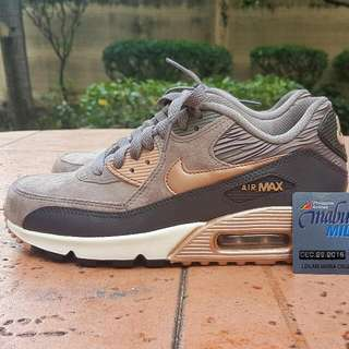 Nike Airmax 90 Leather Premium Mettalic Bronze US6.5 womens