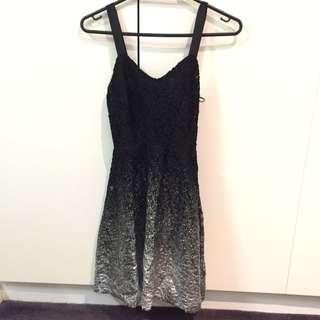 Free People Black Silver Dress SizeXs