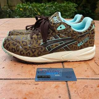 Aisc Gel SAGA Leopard Teal US6 Womens