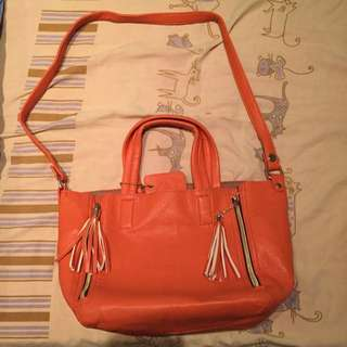 Mel's Accessories Orange Bag