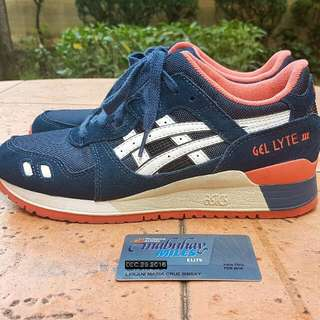 Asics Gel Lyte III Blue/peach US 6.5 Womens