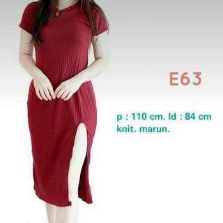 Baju Terusan / Long Dress / Soft Knit