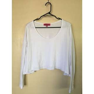 Raw Edge Long Sleeve Swing Top