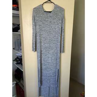 Dipped Hem Maxi Dress