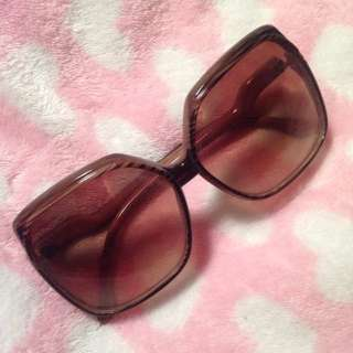 Urban Outfitters Oversized Sunglasses with Wood Design