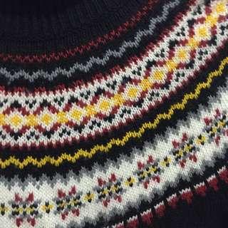 ⭕️冬季衣櫃出清 圖騰古著毛衣