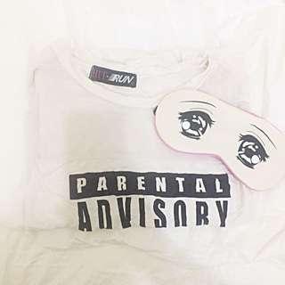 Mesh Parental Advisory Tshirt