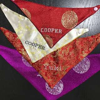[Orders Closed! Thank you for your support! ] Chinese New Year Handmade Bandanas for Sale!