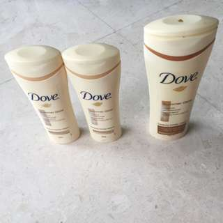 🌷 BUNDLE Dove Gradual Tan Lotion Fair To Light Medium Tan