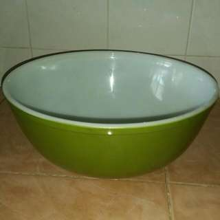 Vintage Pyrex Olive Green Mixing Bowl