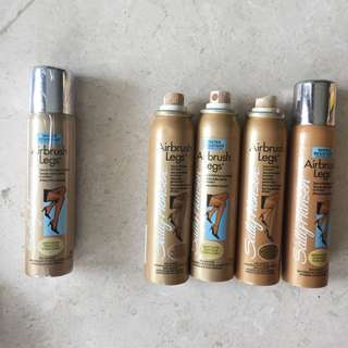 5x Sally Hansen Airbrush Legs Light Medium 75g