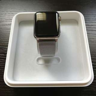 38mm Stainless Steel Apple Watch Series 1 + Extras