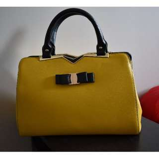 Structured Yellow Handbag