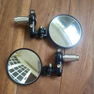 Foldable Round Bar End Mirror Motorcycle Cafe Racer Ktm