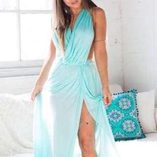 BNWT Blue Grecian Goddess Look Dress