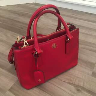 Pre-owned Tory Burch Robinson Mini Double Zip