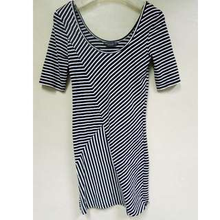 Dorothy Perkins Stripes Black and White