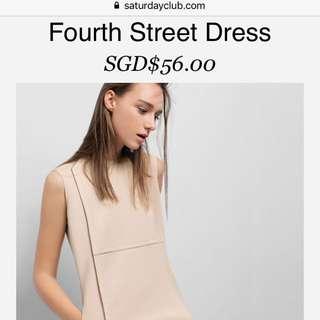 Saturday Club Fourth Street Dress Apricot