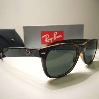 "Ray Ban ""New Wayfarer"" Tortoise Sunglasses"