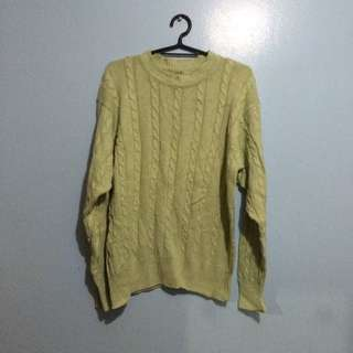 Light Green Sweater (with Knitted Design)