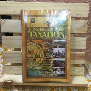 Transfer And Business Taxation By Valencia & Roxas