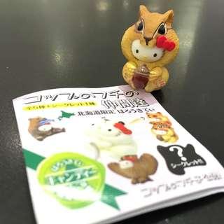 🚚 北海道限定Hello Kitty杯緣子(松鼠)