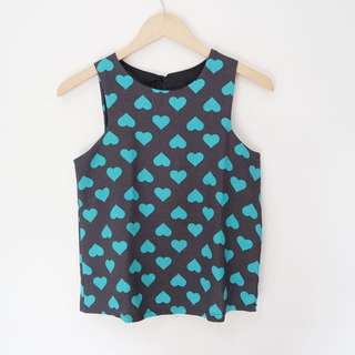NEW Love Sleeveless Top