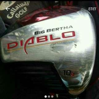 Gallaway DIABLO Big Bertha (Driver) 10 Degree With Original R Flex Shaft