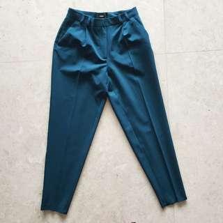 ASOS Teal Straight Leg High Waist Dress Pants 6